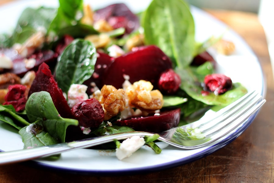 Beetroot, Feta and Maple Walnut Winter Salad