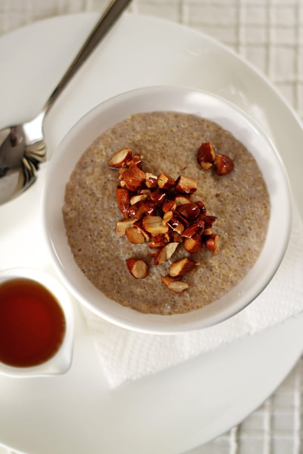 Quinoa Porridge and Almonds