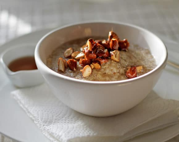 Quinoa Porridge with Salted Maple Almonds