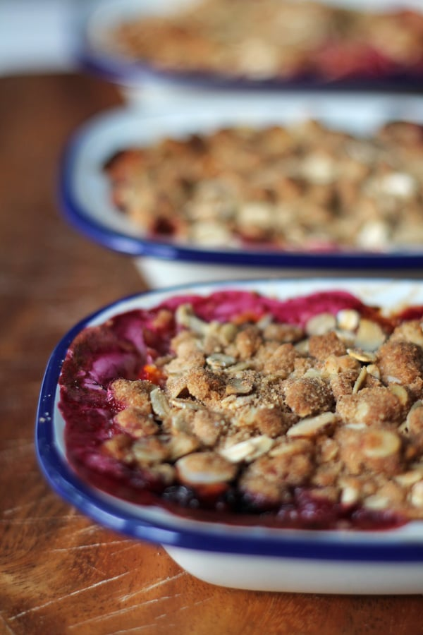 Tamarillo Almond Crumble