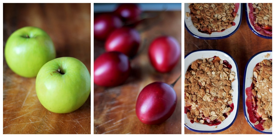 Tamarillo Almond Apple Crumble