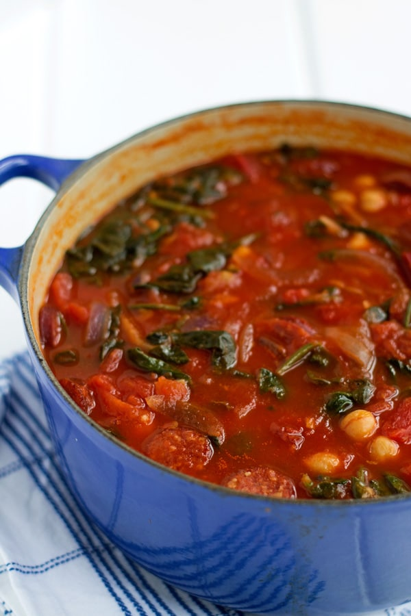Chorizo, Chickpea and Tomato Stew | mylittlelarder.com