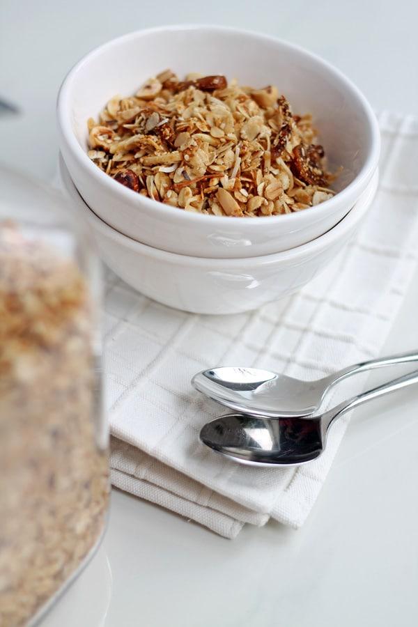 Hazelnut, Fig and Honey Granola | mylittlelarder.com