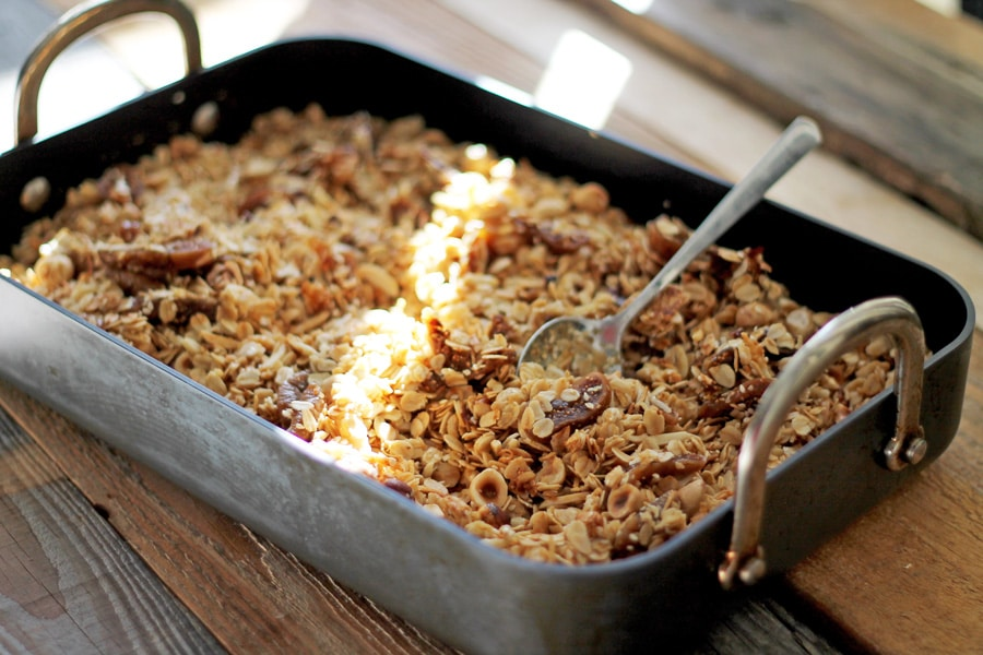 Hazelnut, Fig and Honey Granola Ingredients | mylittlelarder.com