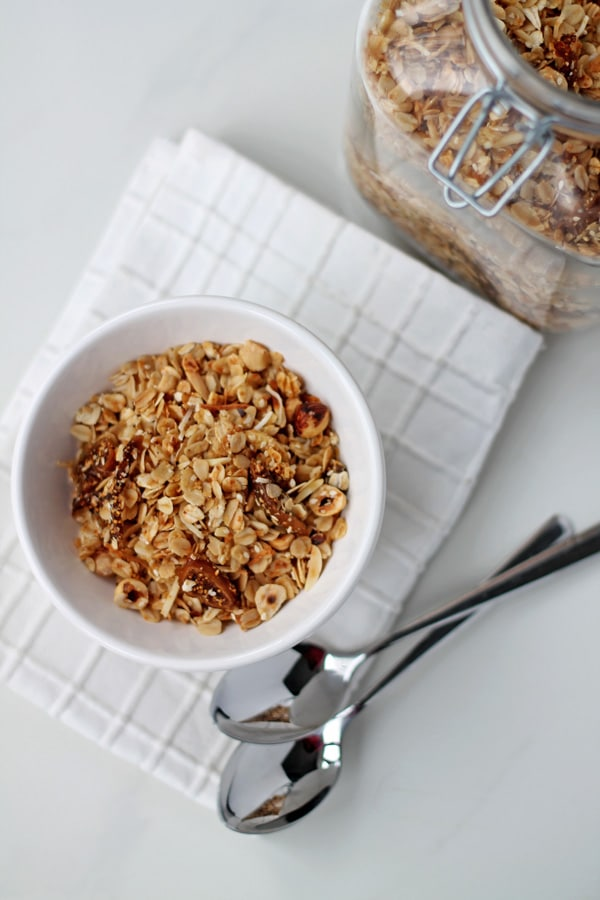 Hazelnut, Fig and Honey Granola | mylittlelarder.com