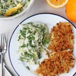 Quinoa Crusted Chicken with Fennel Slaw | mylittlelarder.com