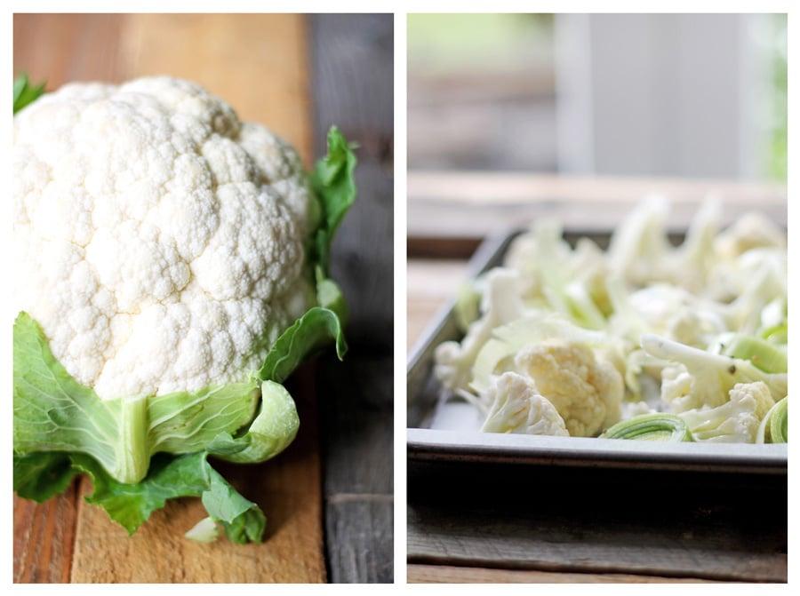 Roasted Cauliflower Soup Ingredients | mylittlelarder.com