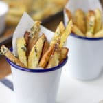Crispy Oven Baked Blue Cheese Fries | mylittlelarder.com