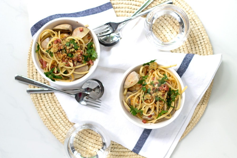 Chorizo, Lemon and Garlic Linguini | www.mylittlelarder.com