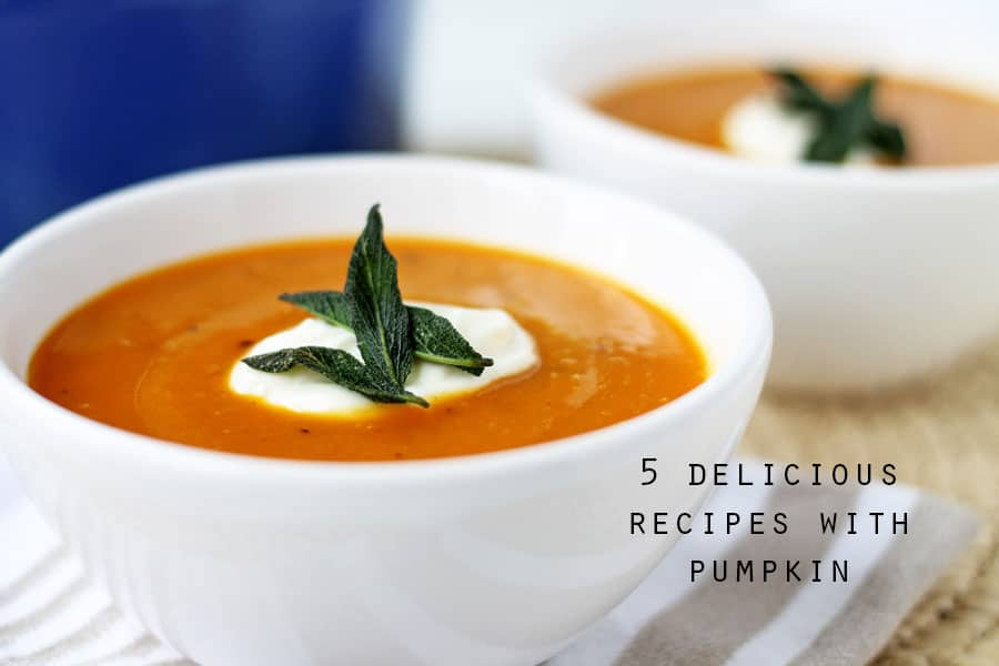 5 Delicious Recipes with Pumpkin | www.mylittlelarder.com