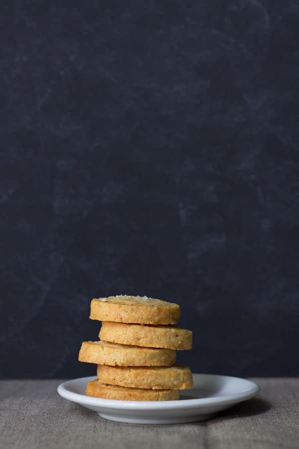 Black Pepper and Parmesan Sables | mylittlelarder.com