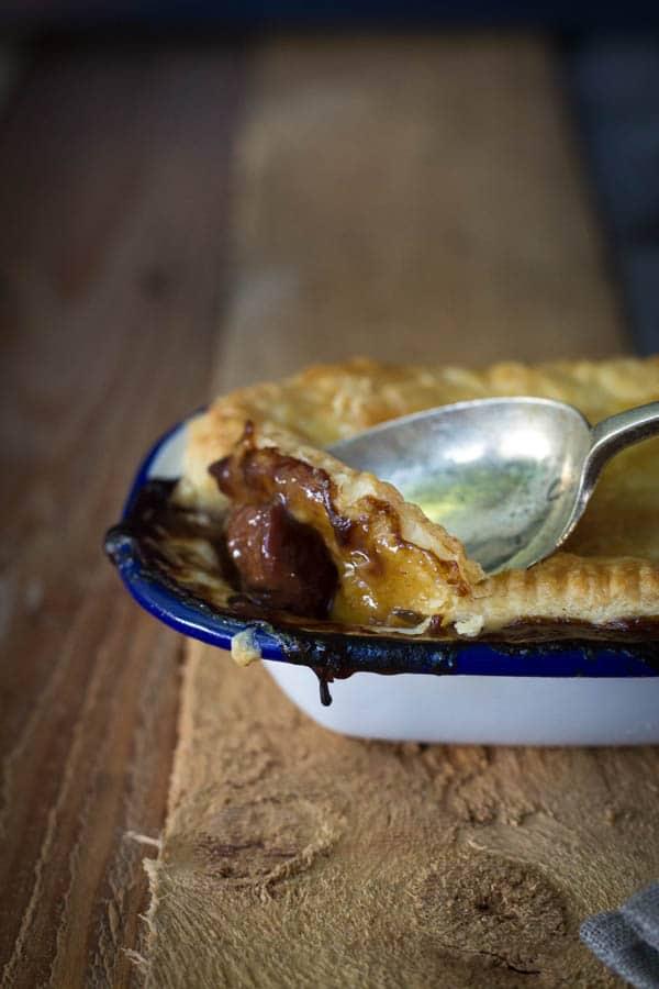 Beef, Mushroom and Stout Pie   mylittlelarder.com