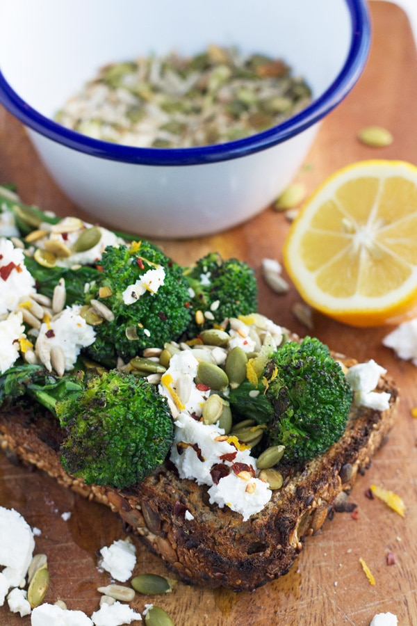 Chargrilled Broccolini with Toasted Seeds, Feta and Chilli | My Little ...