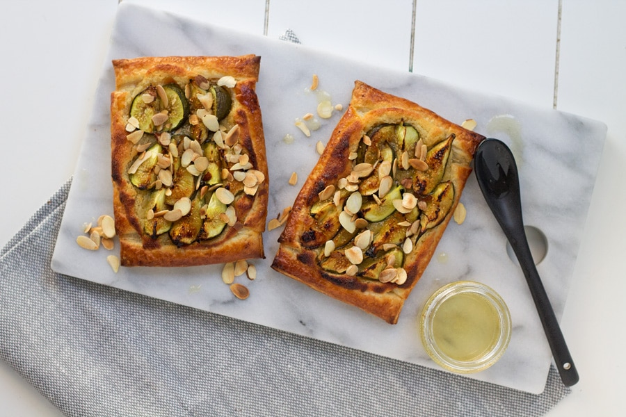 Fig, Almond and Honey Tart | mylittlelarder.com