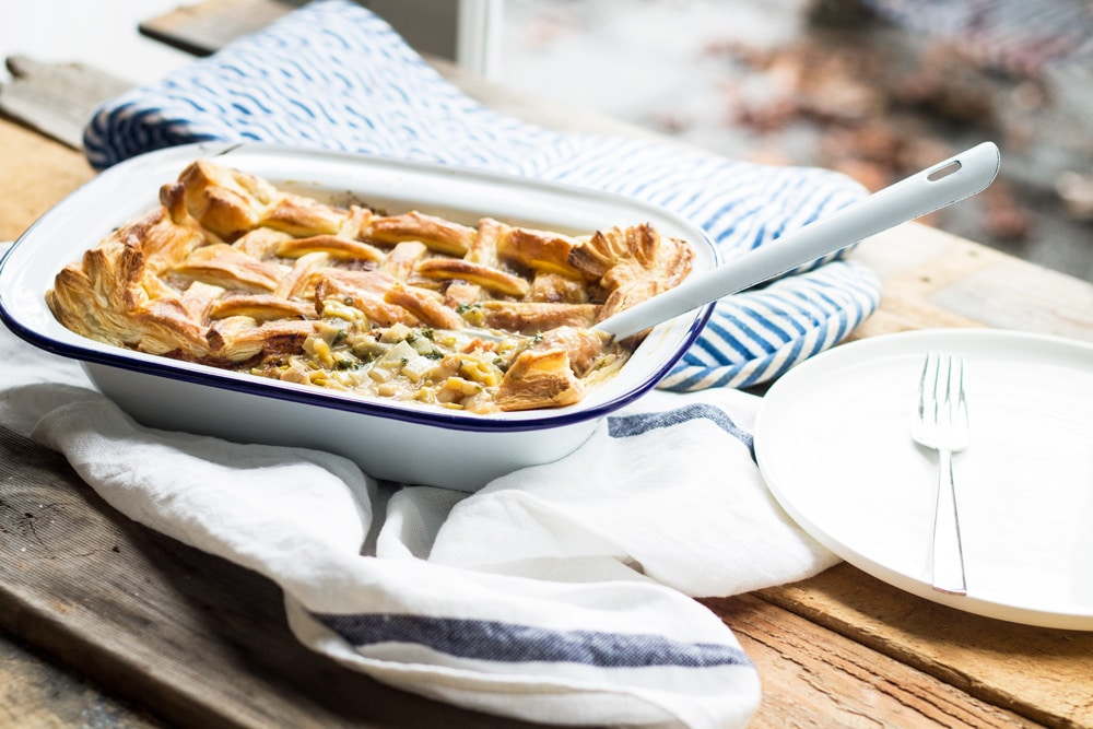 Homemade Chicken and Leek Pie