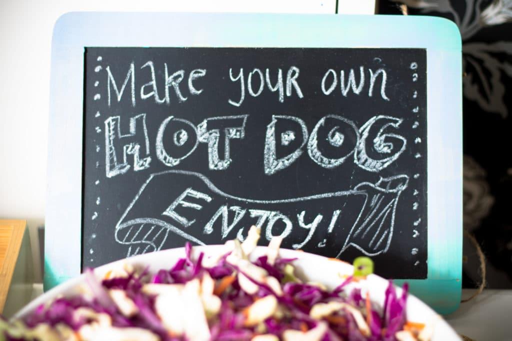 Gourmet Hotdog Bar | mylittlelarder.com