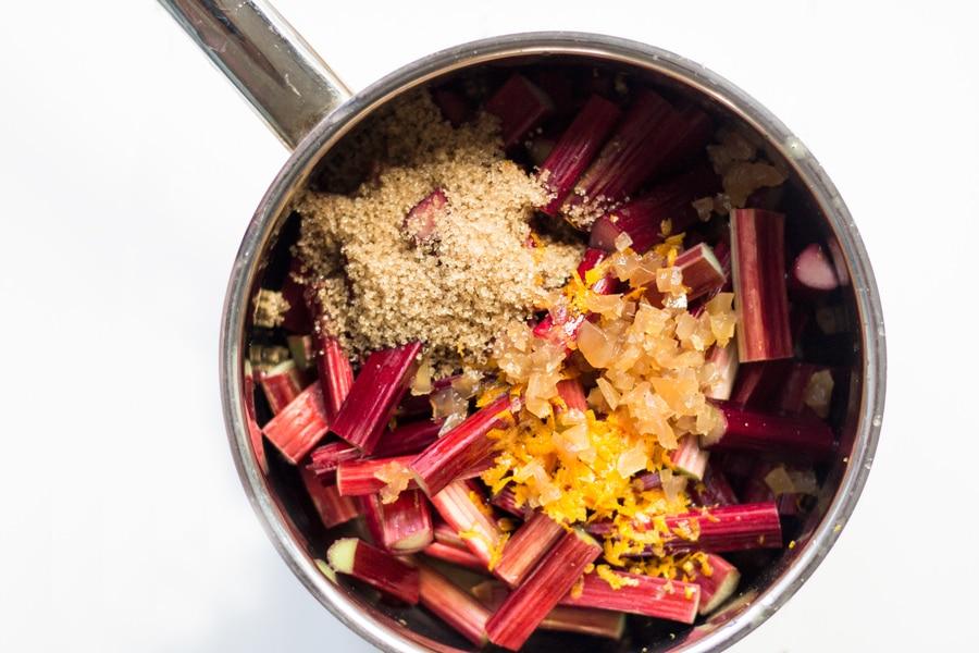 Rhubarb and Hazelnut Crumble | mylittlelarder.com