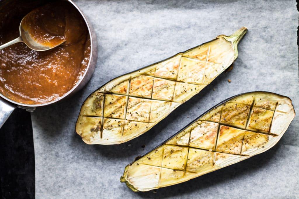 Miso Glazed Eggplant | My Little Larder