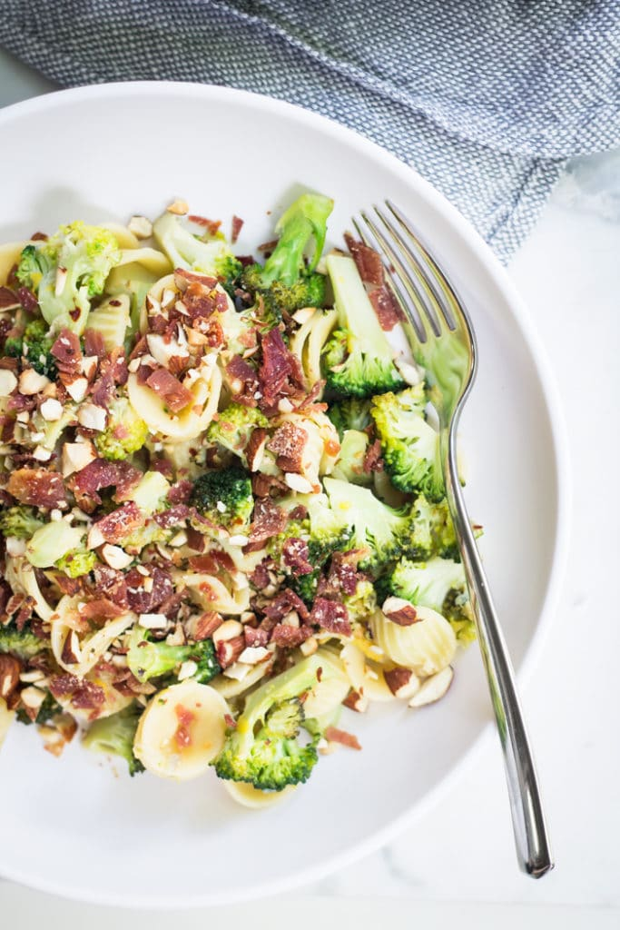 Broccoli and Lemon Orecchiette    mylittlelarder.com