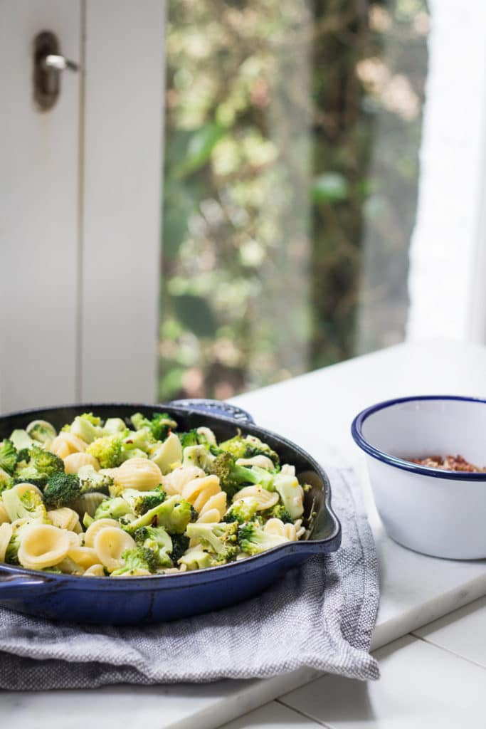 Broccoli and Lemon Orecchiette  | mylittlelarder.com