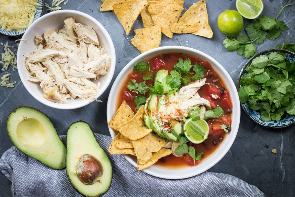 10 Minute Tortilla Soup | mylittlelarder.com