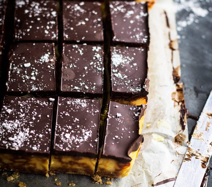 Salted Caramel and Hazelnut Slice | mylittlelarder.com