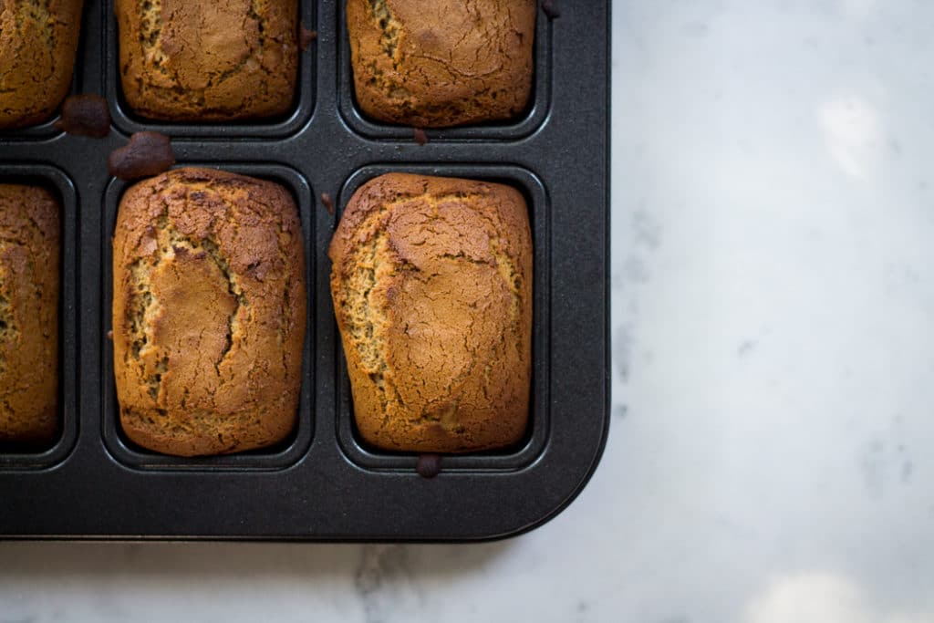 Gingerbread Loaves Brandy Cream Cheese Frosting | mylittlelarder.com