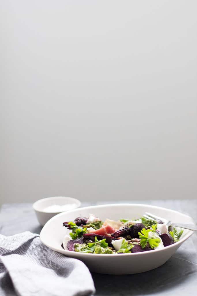Beetroot, Herb and Goat's Cheese Lentil Salad | mylittlelarder.com