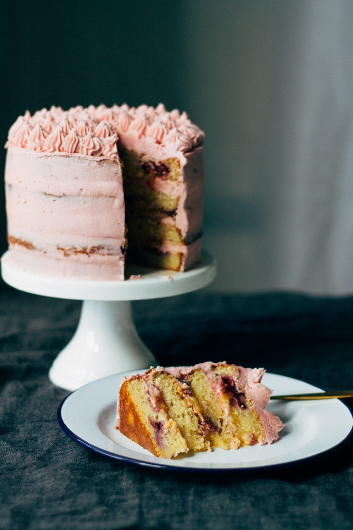 Plum and Lime Layer Cake