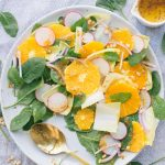 Orange, Spinach and Pine Nut Salad