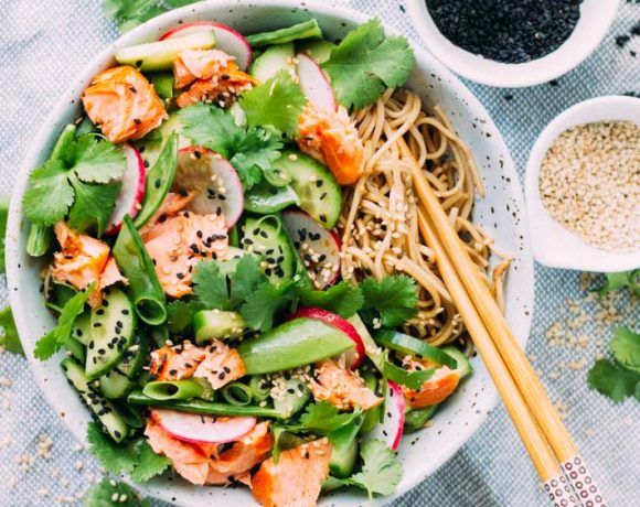 Salmon, Tamari and Soba Noodle Salad | My Little Larder