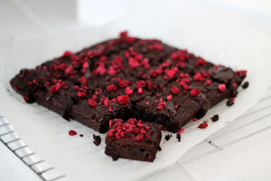 Dark Chocolate and Raspberry Brownies