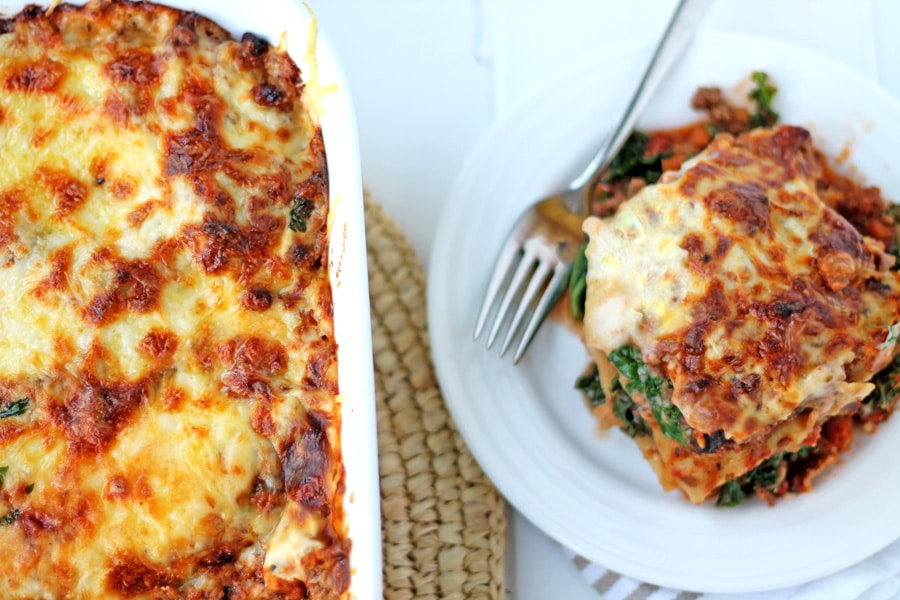 Beef and Kale Lasagna