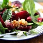 Beetroot, Feta and Maple Walnut Winter Salad