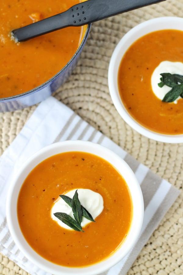 Butternut Pumpkin and Sage Soup