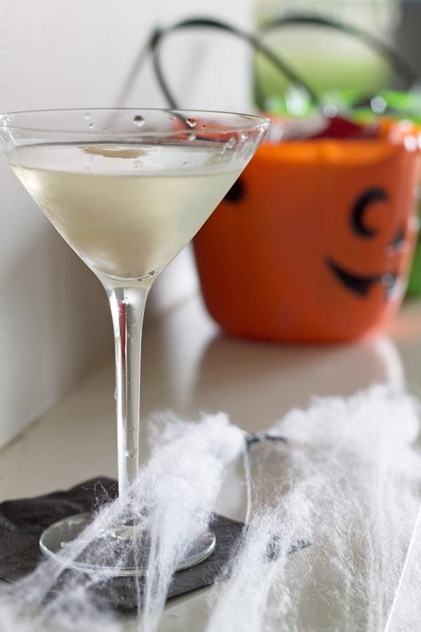 Lychee Vodkatini Halloween Cocktail | www.mylittlelarder.com