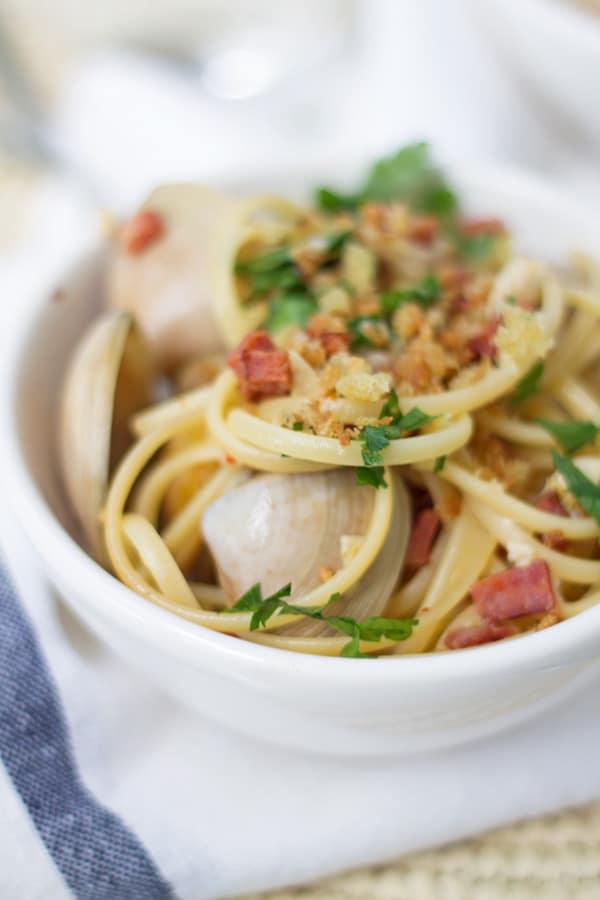 Chorizo, Garlic and Lemon Linguini | www.mylittlelarder.com