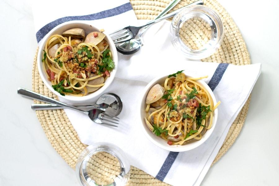 Chorizo, Lemon and Garlic Linguini | www.mylittlelarder.com