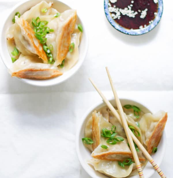 Asian Inspired Pork Pot Stickers | mylittlelarder.com