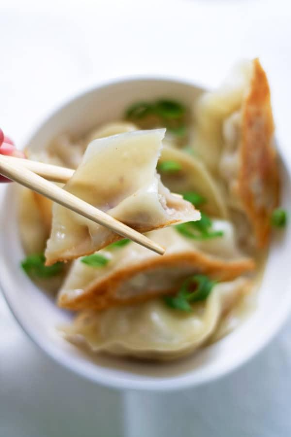 Asian Inspired Pork Pot Stickers | mylittlelarder.com