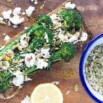 Chargrilled Broccolini with Toasted Seeds, Feta and Chilli   mylittlelarder.com