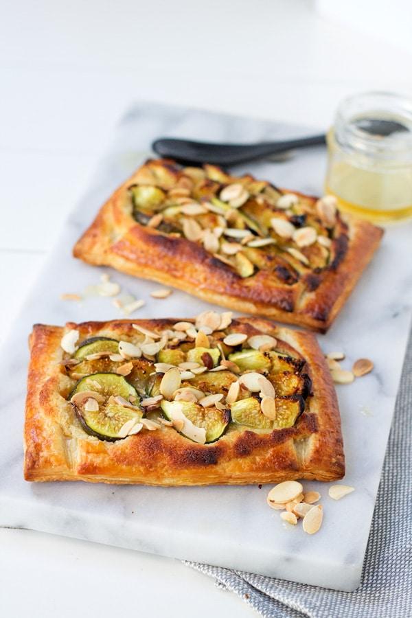 Fig, Almond and Honey Tart | mylittlelarder.com