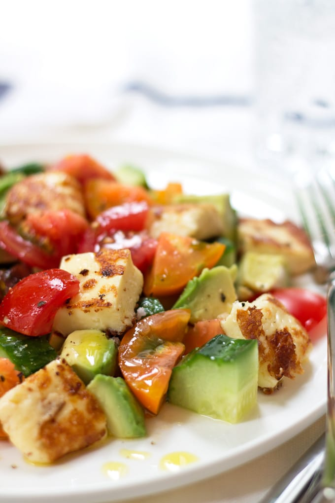 Summer Halloumi Salad | mylittlelarder.com