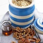 Healthy Chocolate Banana Granola | mylittlelarder.com
