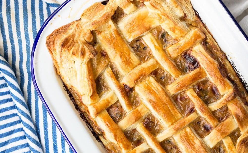 Homemade Chicken and Leek Pie