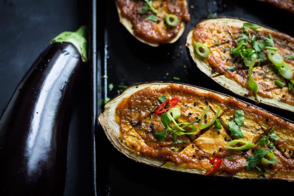 Miso Glazed Eggplant | mylittlelarder.com