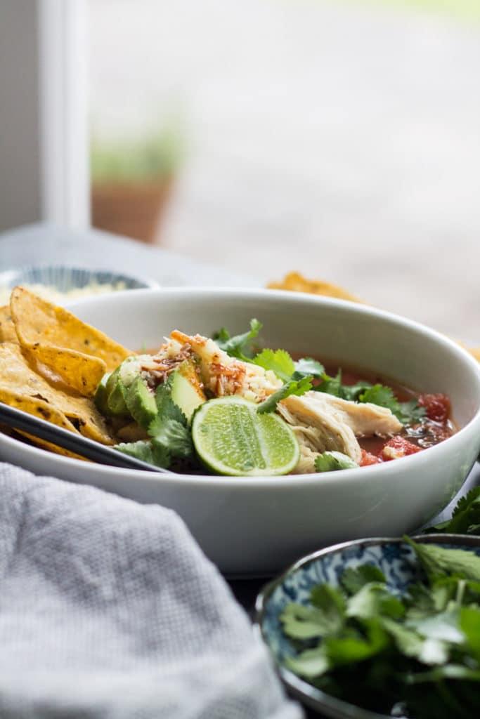 10 Minute Tortilla Soup   mylittlelarder.com