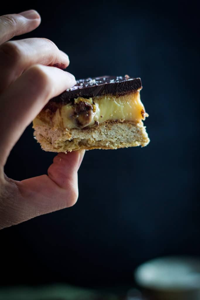 Salted Caramel and Hazelnut Slice | mylittlelarder.com