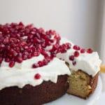 Honey, Orange and Cardamon Cake with Yoghurt and Pomegranate | mylittlelarder.com