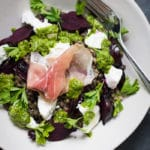 Beetroot, Herb and Goat's Cheese Lentil Salad | mylittlelarder.com